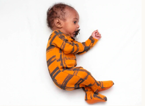 Loved Baby Loved Baby - Organic Zipper Footie - Butternut Plaid