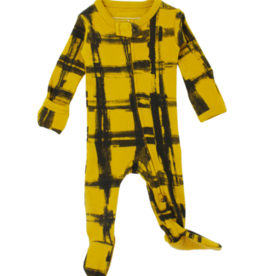 Loved Baby Loved Baby - Organic Zipper Footie - Citrine Plaid