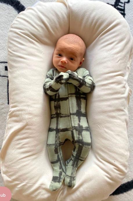 Loved Baby Loved Baby - Organic Zipper Footie - Seafoam Plaid