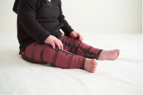 Loved Baby Loved Baby - Drawstring Leggings - Appleberry Plaid