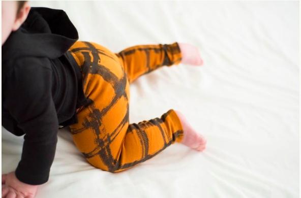 Loved Baby Loved Baby - Drawstring Leggings - Butternut Plaid