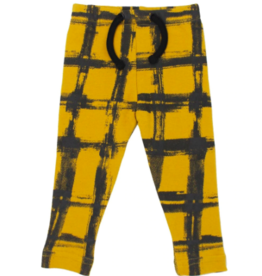 Loved Baby Loved Baby - Drawstring Leggings - Citrine Plaid