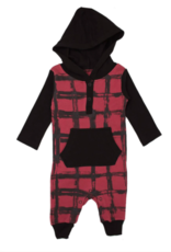 Loved Baby Loved Baby - Hooded Long-Sleeve Romper - Appleberry Plaid