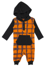 Loved Baby Loved Baby - Hooded Long-Sleeve Romper - Butternut Plaid