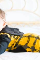 Loved Baby Loved Baby - Hooded Long-Sleeve Romper - Citrine Plaid