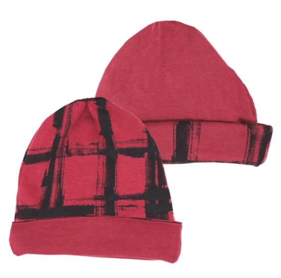 Loved Baby Loved Baby - Reversible Beanie - Appleberry Plaid