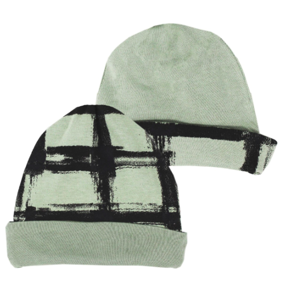 Loved Baby Loved Baby - Reversible Beanie - Seafoam Plaid
