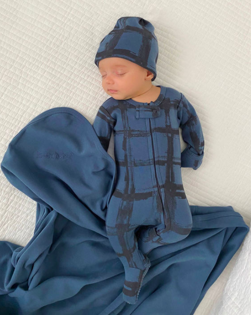 Loved Baby Loved Baby - Reversible Beanie - Abyss Plaid