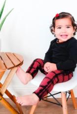Loved Baby Loved Baby - Kids Drawstring Leggings - Appleberry Plaid - 2T