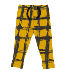 Loved Baby Loved Baby - Kids Drawstring Leggings - Citrine Plaid - 2T