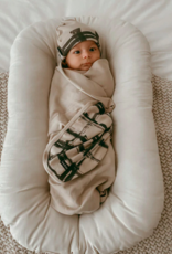 Loved Baby Loved Baby - Swaddling Blanket - Oatmeal Plaid