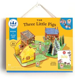 Storytime Toys Three Little Pigs Book + Playset