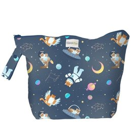 GroVia GroVia - Zippered Wet Bag - All Good Cats Go To Space