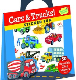 Peaceable Kingdom Cars and Trucks Sticker Tote