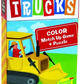 Peaceable Kingdom Trucks Match Up Game & Puzzle