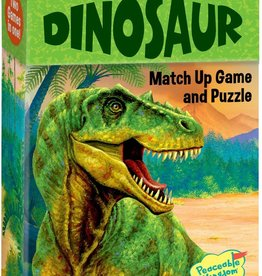 Peaceable Kingdom Dinosaur Match Up Game & Puzzle