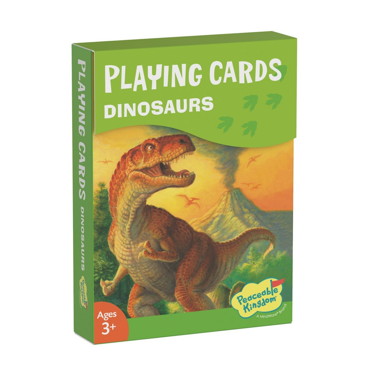 Peaceable Kingdom Playing Cards: Dinosaurs