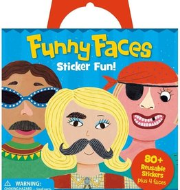 Peaceable Kingdom Funny Faces Sticker Tote