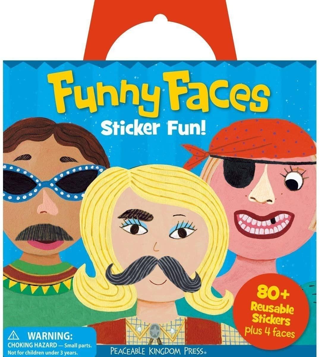 Peaceable Kingdom Funny Faces Sticker Tote