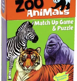 Peaceable Kingdom Zoo Animals Match Up Game & Puzzle