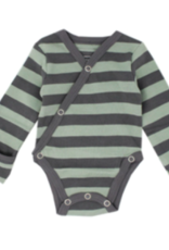Loved Baby Loved Baby - Organic Kimono Bodysuit - Seafoam  Stripe