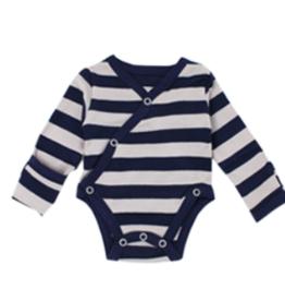 Loved Baby Loved Baby - Organic Kimono Bodysuit - Navy  Stripe
