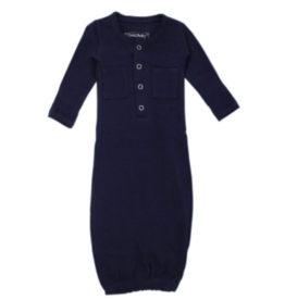 Loved Baby Loved Baby - Organic Gown - Navy