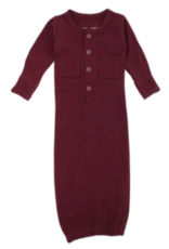 Loved Baby Loved Baby - Organic Gown - Eggplant