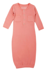 Loved Baby Loved Baby - Organic Gown - Coral
