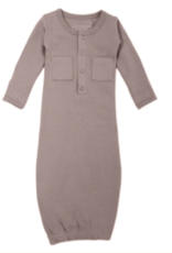 Loved Baby Loved Baby - Organic Gown - Light Gray