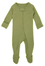 Loved Baby Loved Baby - Organic Zipper Footie - Sage