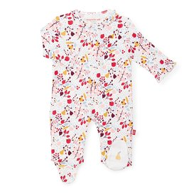 Magnetic Me Magnetic Me - Organic Cotton Magnetic Footie - Pom Pom