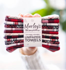 Marley's Monsters Unpaper Towels Prints Holiday Plaid 12-pack