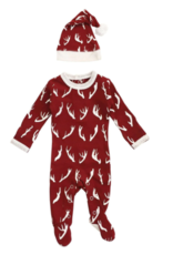 Loved Baby Loved Baby - Organic Footie & Cap Set - Oh Deer