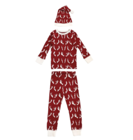 Loved Baby Loved Baby - Organic Kids Long Sleeve PJs & Cap Set - Oh, Deer