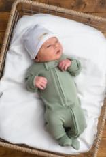Loved Baby Loved Baby - Organic Zipper Footie - Seafoam