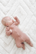 Loved Baby Loved Baby - Organic Zipper Footie - Mauve