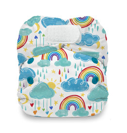 Thirsties Thirsties - Natural Newborn AIO H&L - Rainbow