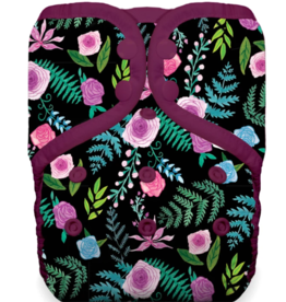 Thirsties One Size Pocket Diaper Snap Floribunda