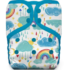 Thirsties Thirsties One Size Pocket Diaper Snap - Rainbow