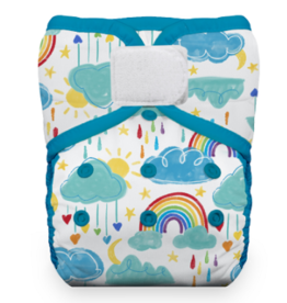 Thirsties Thirsties One Size Pocket Diaper H&L - Rainbow