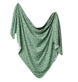 Copper Pearl Copper Pearl - Knit Swaddle Blanket - Pine