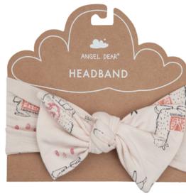 Angel Dear Llama Headband Pink - 0-12 month