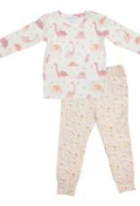 Angel Dear - Lounge Wear Set - Floral Dinos Pink