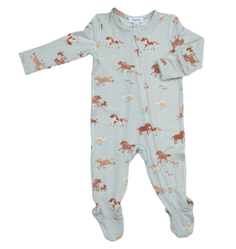 Angel Dear Zipper Footie - Wild Horses