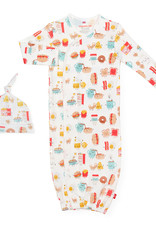 Magnetic Me Magnetic Me Organic Cotton - Magnetic Gown & Hat - Better Together