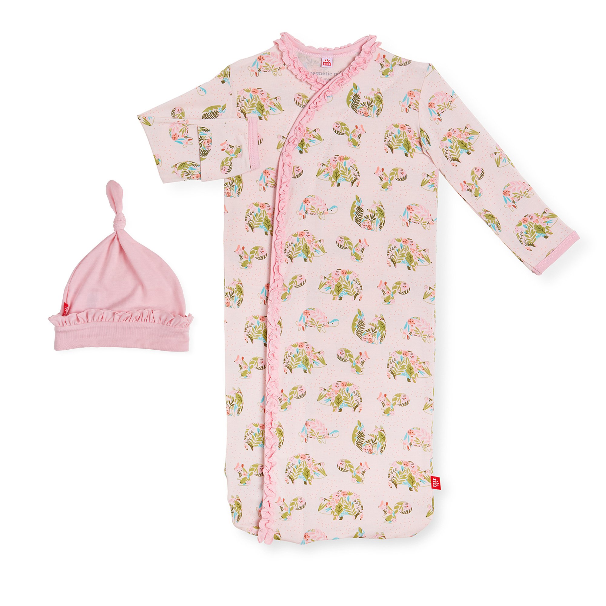 Magnetic Me Magnetic Me - Organic Cotton Magnetic Gown & Hat - Eden