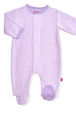 Magnetic Me Magnetic Me - Velour Footie - Orchid Cream