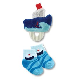 Teether Toy and Socks - Boat