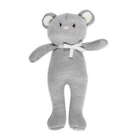 Grey Bear Knit Toy